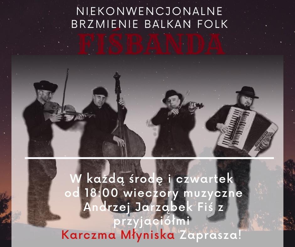 Kapela na żywo zakopane Fiśbanda Balkan folk Fiś